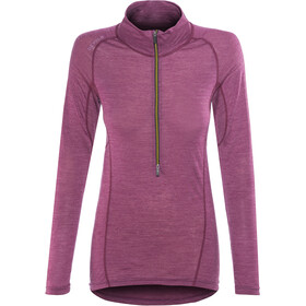 Devold Running Zip Neck LS Top Women, plum